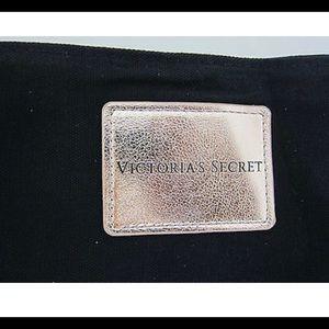 Victoria's Secret Bags - Victoria's Secret Black Tote & Rose Gold Handles -